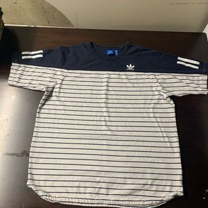 Adidas striped t shirt